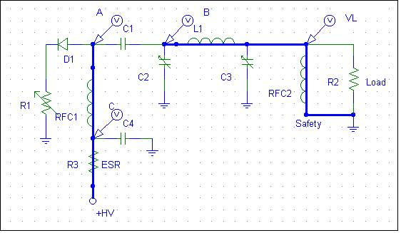 Charging path for blocking capacitor